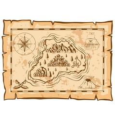 treasure map of dead island vector image