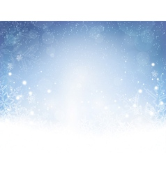 Abstract blue white winter Christmas vector image
