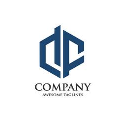 creative letter df logo vector image vector image