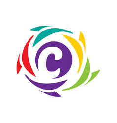 initial c icon vector image vector image