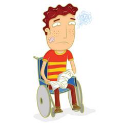man do insurance claim vector image vector image