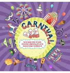 Carnival invitation design vector
