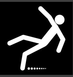 Man slip fall white color icon vector