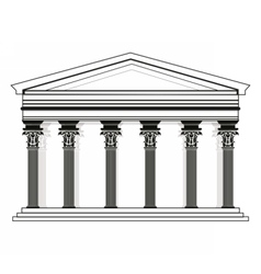 Roman Greek Pantheon temple vector image