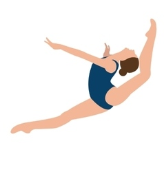 woman girl female gymnastics move position jumping vector image