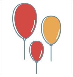Ballon line icons vector image