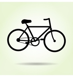Bicycle icon Male bike Sport symbol Black vector image