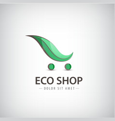 eco bio products organic food logo sign vector image