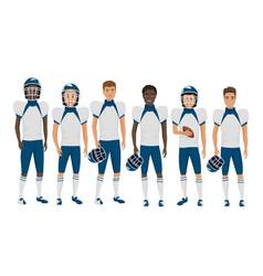 flat school american football young guys vector image vector image
