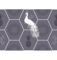 Honeycomb floor tile seamless pattern vector image vector image