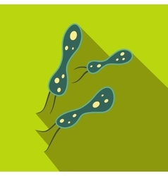 Rod-shaped virus flat icon vector image