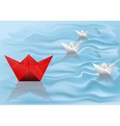 winner paper ship vector image
