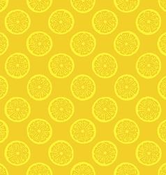 yellow lemon slices seamless pattern vector image vector image