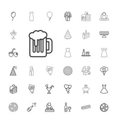 33 party icons vector