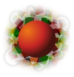 Abstract autumn squares with sphere in the middle vector