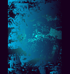 Abstract cosmic psychedelic blue and turquoise vector