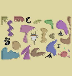 Abstract wallpaper with a cup coffee in mid vector
