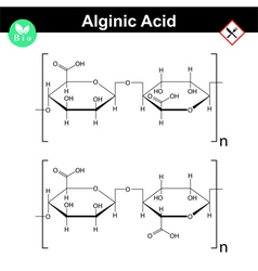 Alginic acid molecular structure vector image