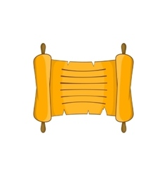 Ancient scroll icon in cartoon style vector image