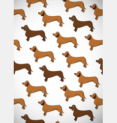 awesome greeting vertical card with dogs breed vector image
