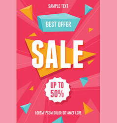 best offer sale promotion vector image