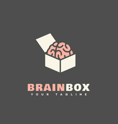 Brain box logo vector