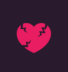 Broken heart sign vector