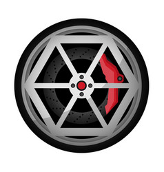 Car titanium rim icon vector