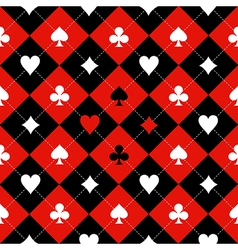 Card Suit Chess Board Red Black White vector image