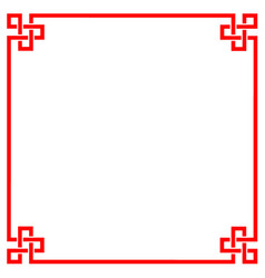 chinese border frame vector image