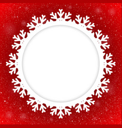 Circle Red Background New Year Snow Snowflake vector