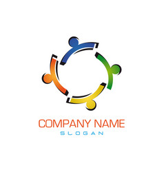 colorful family logo vector image
