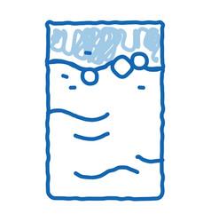 Colostrum mother liquid doodle icon hand drawn vector
