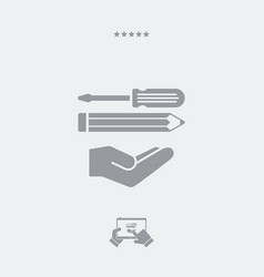 Custom assistance flat icon vector