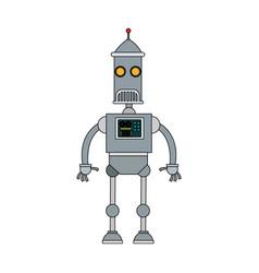 cute robot cartoon vector image