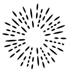 doodle design element sunburst hand drawn vector image