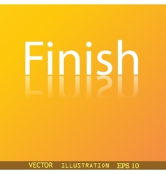 Finish icon symbol Flat modern web design with vector