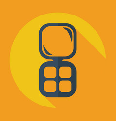 Flat modern design with shadow icon pocket mirror vector