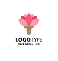 flower plant rose spring business logo template vector image