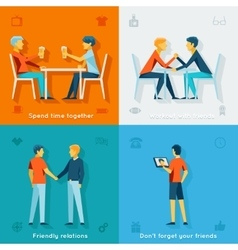 Friends and friendly company concepts vector