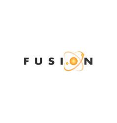 fusion logo concept vector image