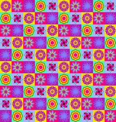 Geometric flowers collection vector