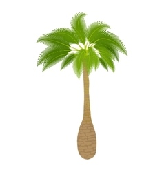 Green palm icon cartoon style vector