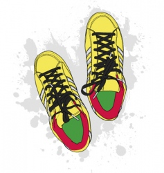 grunge shoes vector image