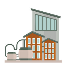 industrial three story buildings complex with vector image