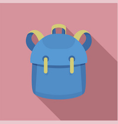 Kid backpack icon flat style vector