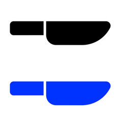 knife glyph icon vector image
