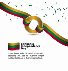 Lithuania independence day flag template design vector