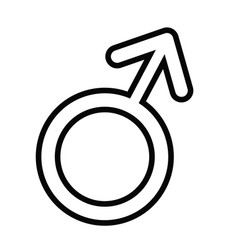 male gender icon vector image