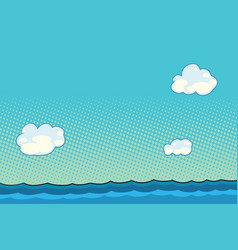 marine landscape with sea and clouds vector image